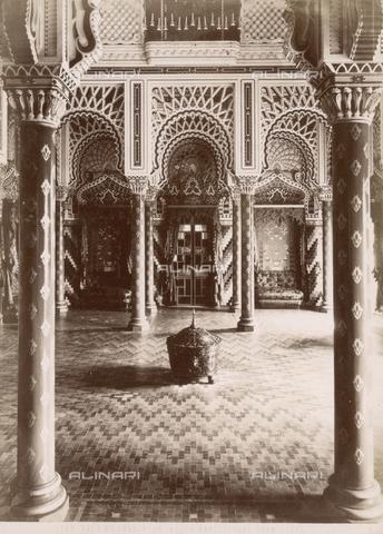 <caption>Sala di consiglio, castello di Sammezzano; proprietario e committente originario: Ferdinando Panciatichi Ximenes d' Aragona (Firenze 1813 – Sammezzano 1897)</caption>1880-1890Panciatichi Ximenes d'Aragona, Ferdinando1853Reggello -
